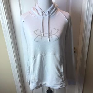 Under Armour | White Hooded Sweatshirt, Sz XL